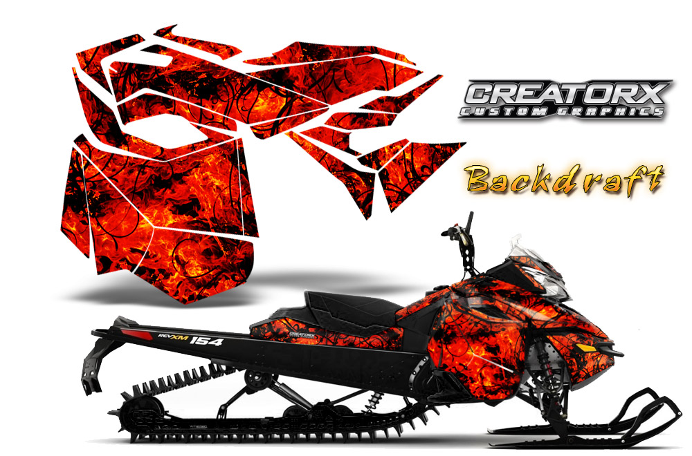 Skidoo Rev XM Graphics Kit Backdraft Red