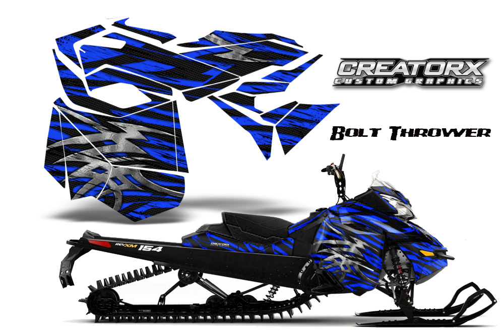 Skidoo Rev XM Graphics Kit Bolt Thrower Blue BB