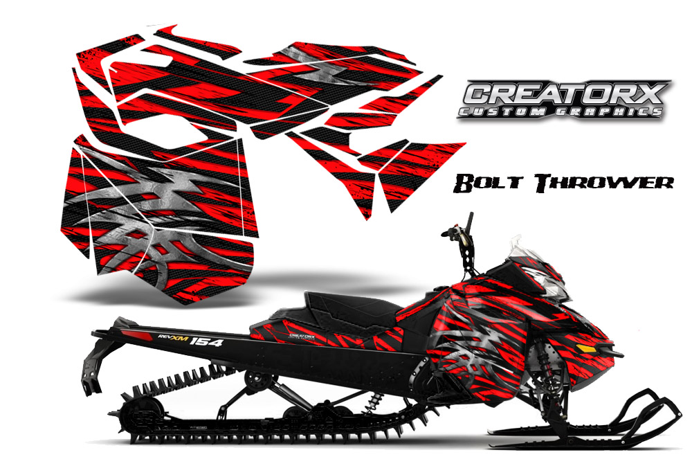 Skidoo Rev XM Graphics Kit Bolt Thrower Red BB